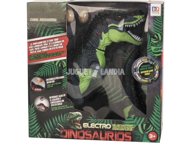 Dinosaure 39 cm. Expulse Vapeur et Pond Oeufs