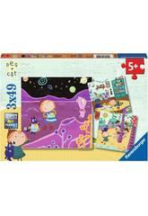 Puzzle Peg+Cat 3x49 Pièces Ravensburger 080595