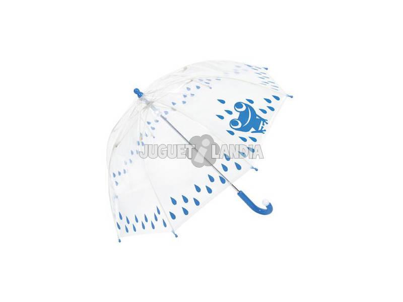 Paraguas Infantil Manual Cupula Antiviento 48/8 varillas Rana Clima 60180