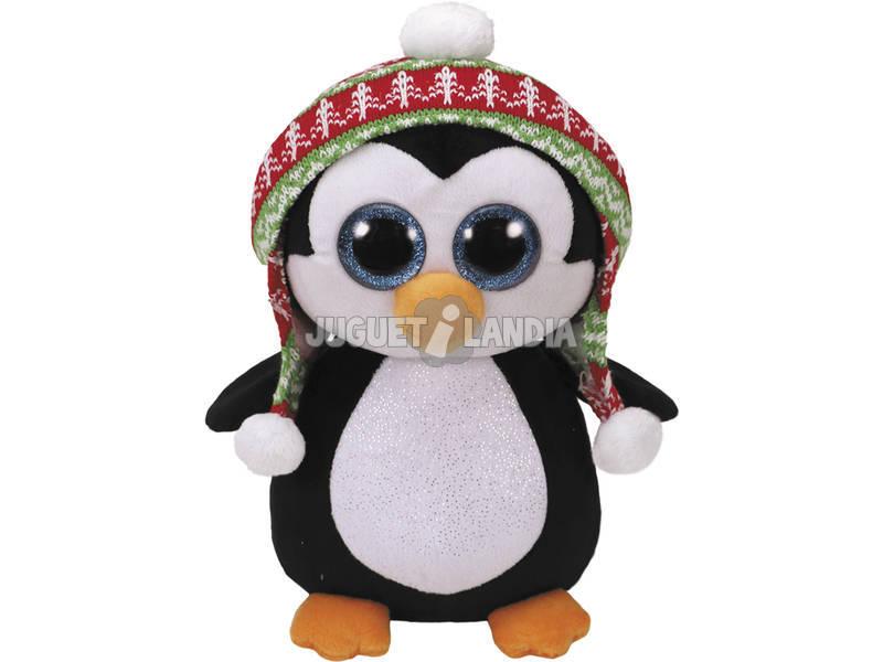 Peluche Pingüino con Gorrito 23 cm TY 36989TY
