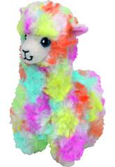 Peluche Llama Multicolor Lola 23 cm TY 36989TY