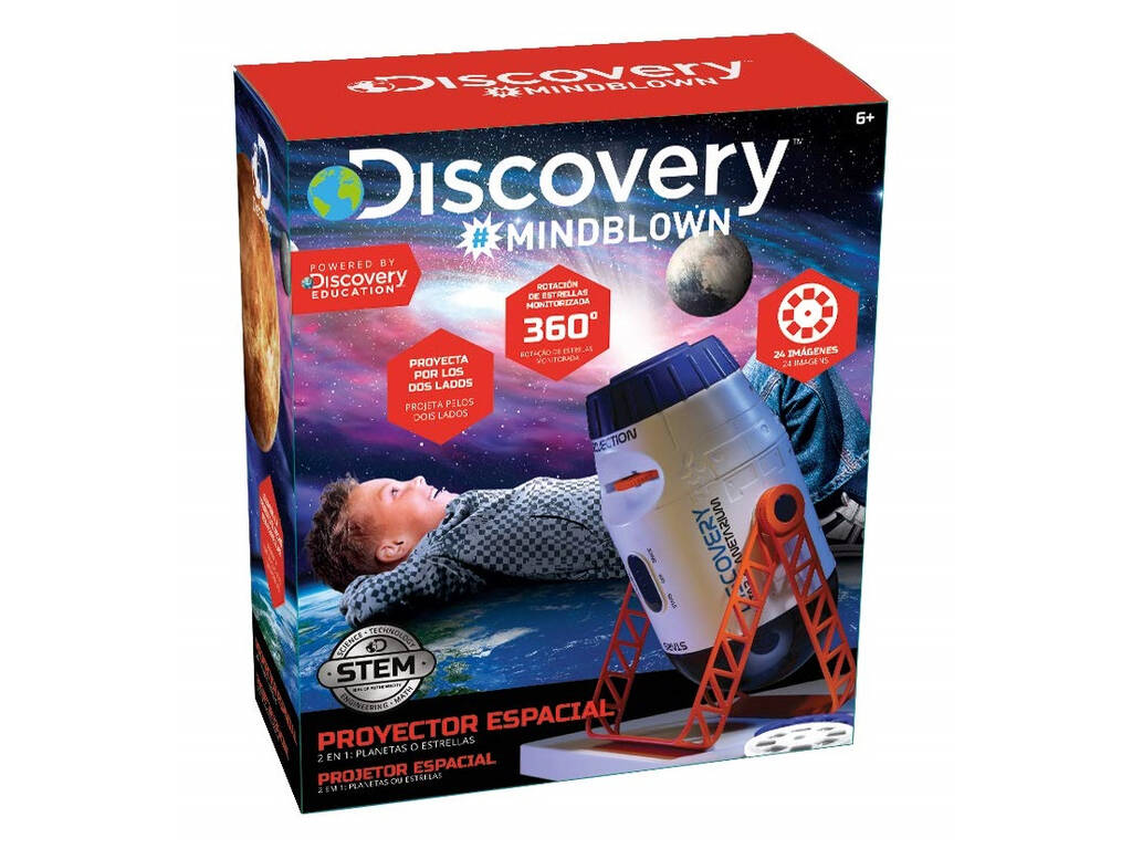 Projecteur Spatial Discovery 2 En 1 World Brands 6000076