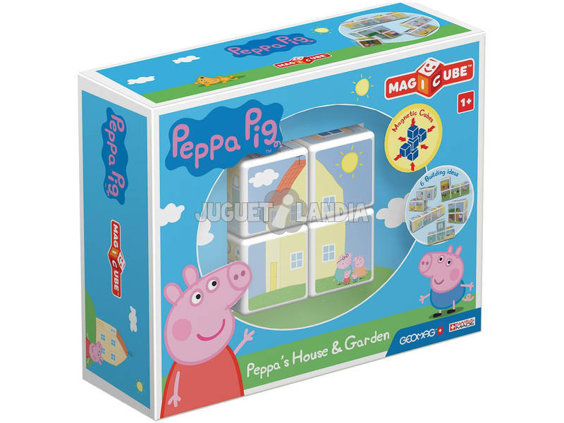 Geomag Magicube Peppa Pig Casa e Giardino Toy Partner 50
