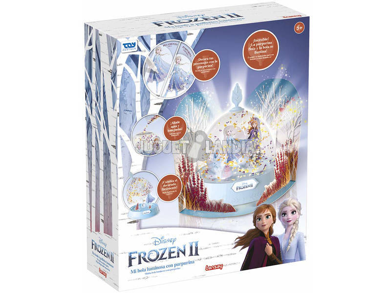 Frozen 2 Mi Bola Luminosa con Purpurina Toy Partner 25013
