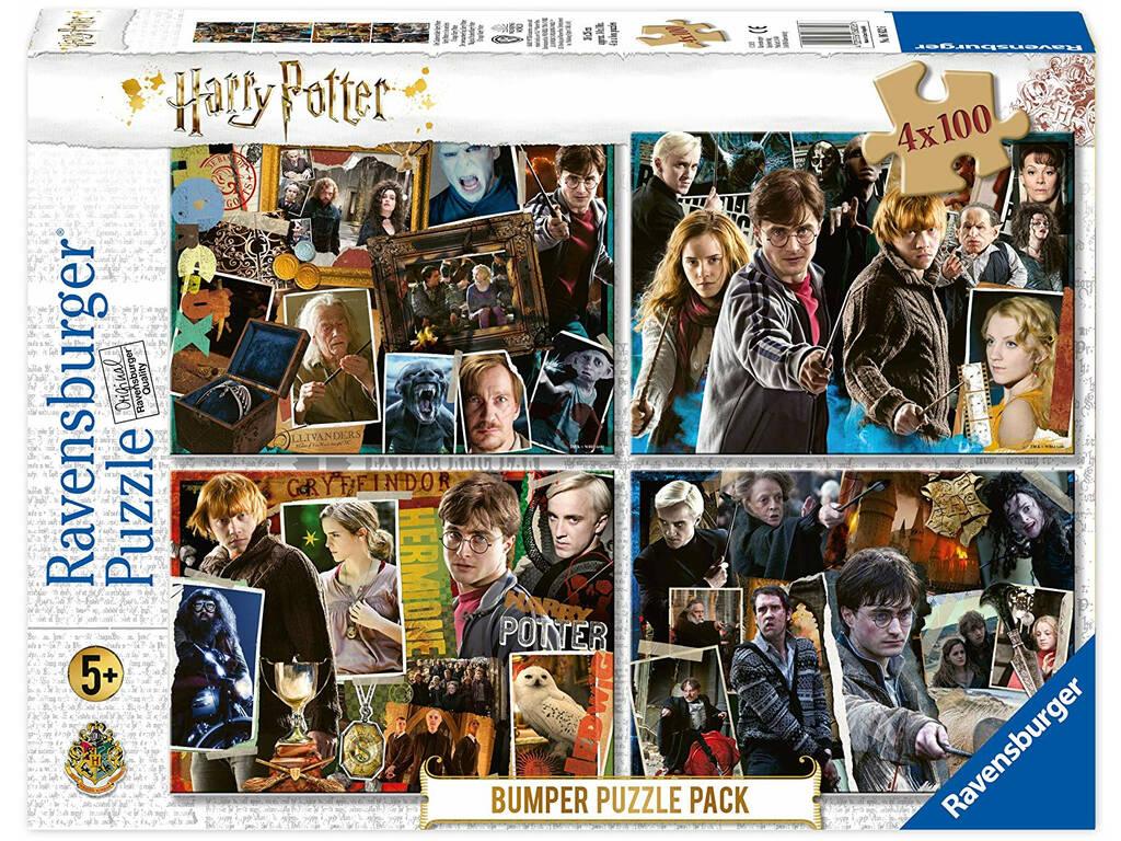 Harry Potter Puzzle 4x100 Pièces Ravensburger 6832