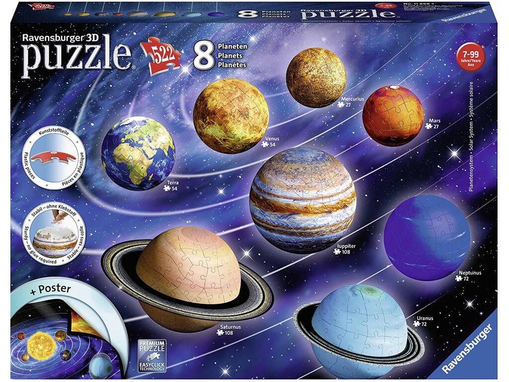 Puzzle 3D El Sistema Planetario Ravensburger 11668