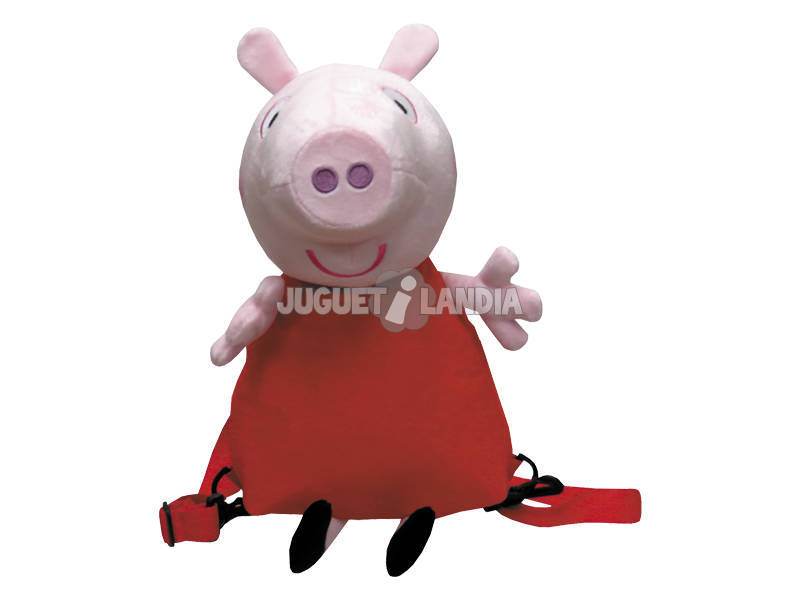 Peluche Mochila 3D Peppa Pig 30 cm. CYP MC-102-PG
