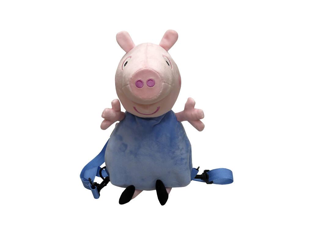 Peluche Mochila 3D Peppa Pig George 30 cm. CYP MC-103-PG