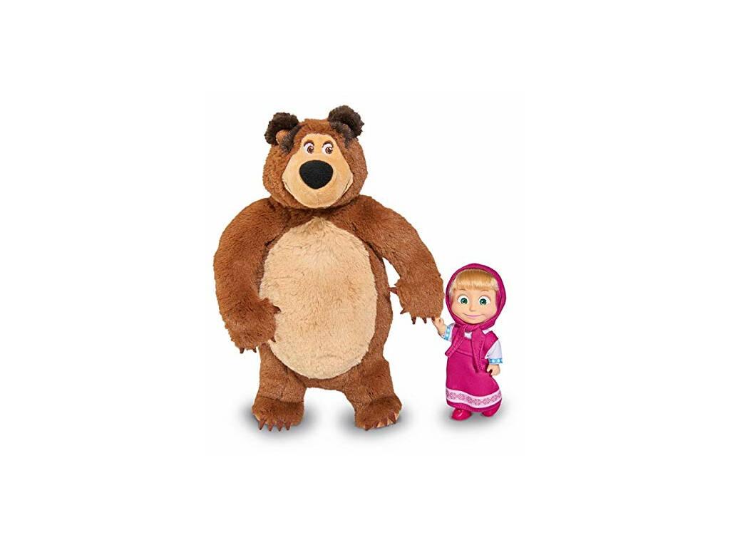 Masha Poupée 12 cm. Avec Ours en Peluche Simba 9301072