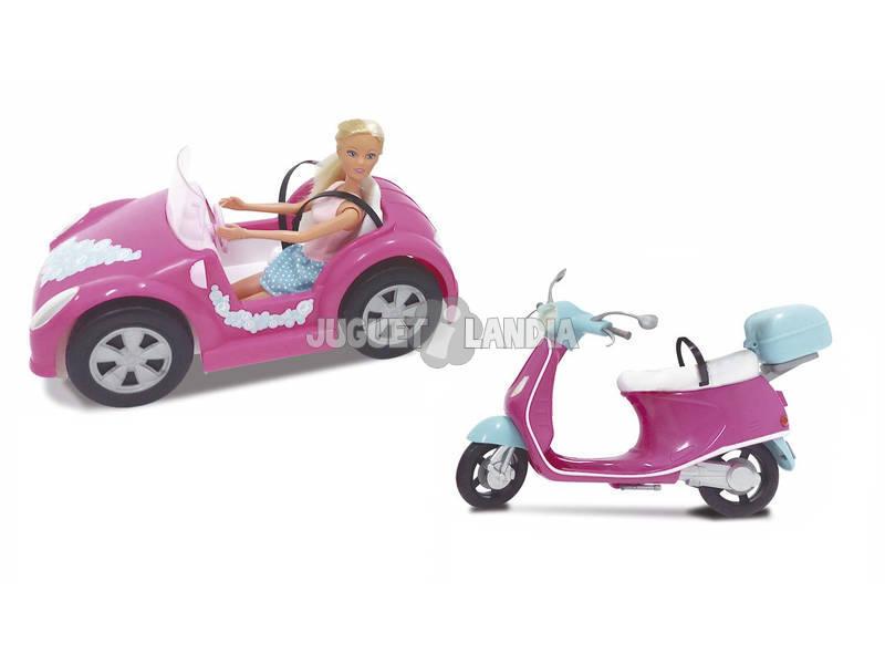 Steffi Love Con Auto e Moto Simba 105738332003