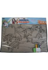 Alfombra Para Colorear Dinosaurios