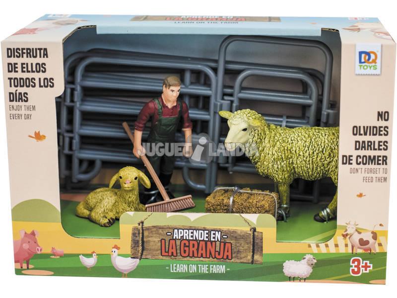 Ferme Kit avec 2 Moutons et Fermier