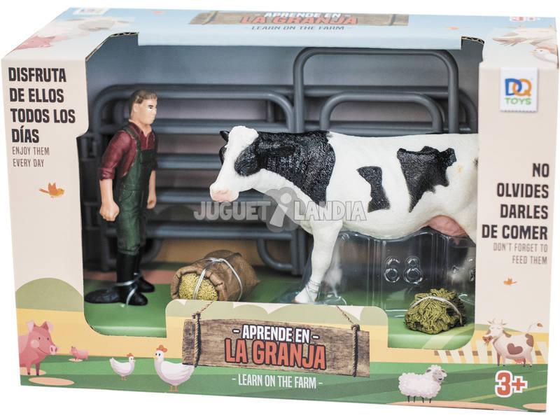 Ferme Kit avec Vache et Fermier