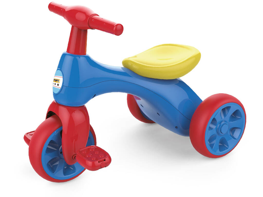 Triciclo Pedali Blu Rosso e Giallo