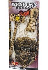Conjunto Guerrrero 3 Piezas Maza, Escudo y Puño