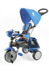 Triciclo Ranger 3 em 1 Azul com Capa QPlay T12
