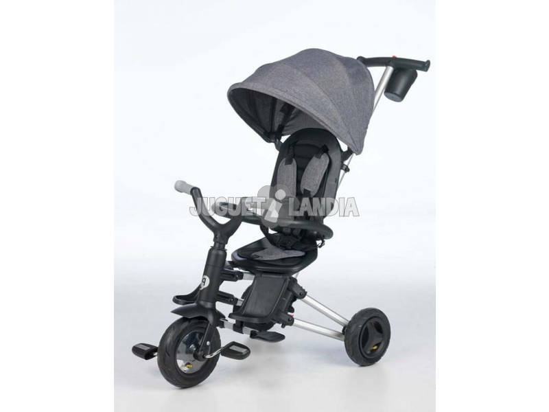 Triciclo Dobrável Nova Cinza Qplay T490
