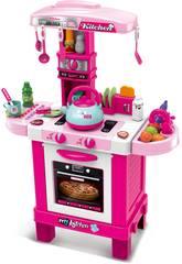Cocina Interactiva Rosa con 32 Accesorios