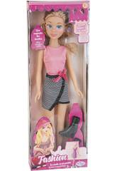 Muñeca Fashion 50 cm. Vestido Rosa