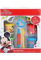 Mickey Potes de Pâte à Modeler avec des Moules et des Outils Colorbaby 77172