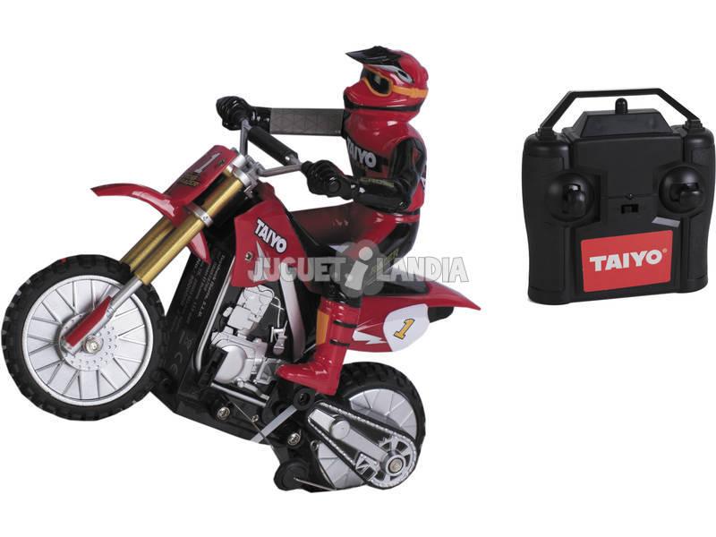 Radio Control 1:16 Motocross Racer Red Taiyo 500000B Teledirigido