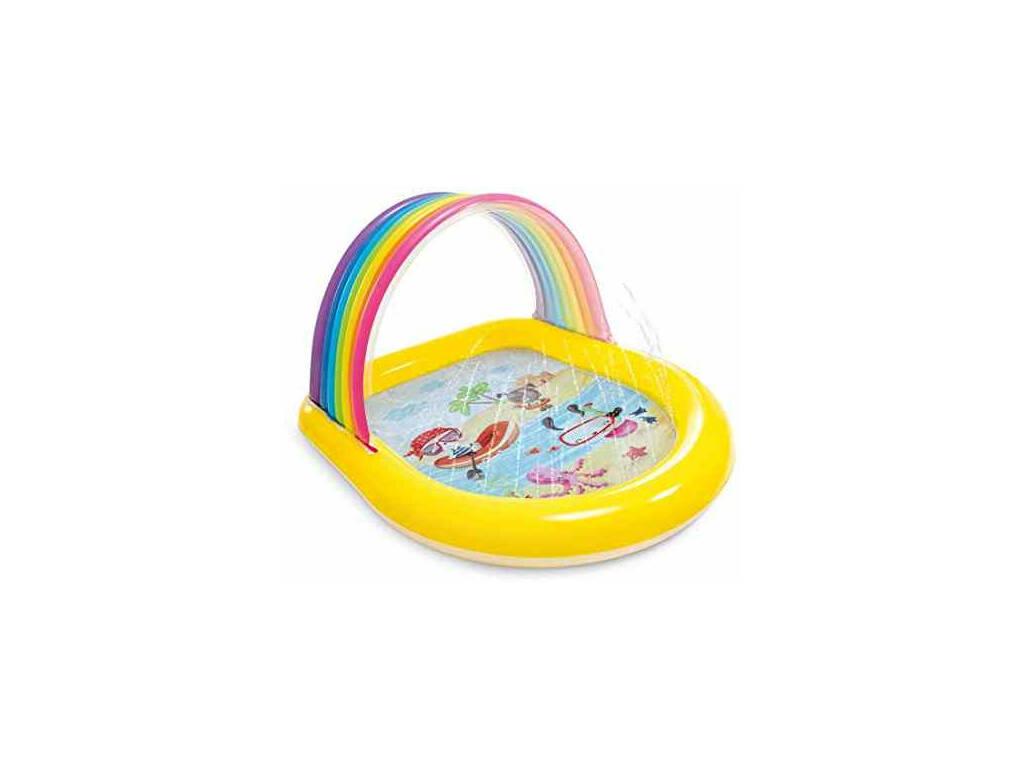 Piscine Gonflable Enfant Rainbow Arch Spray 147x130x86 cm. Intex 57156