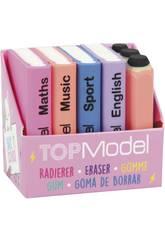 TopModel Set Goma de Borrar, mini libros y Pasadores Dog 3942