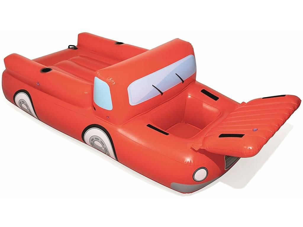 Matelas Gonflable Camion Rouge avec Réfrigérateur Bestway 43192