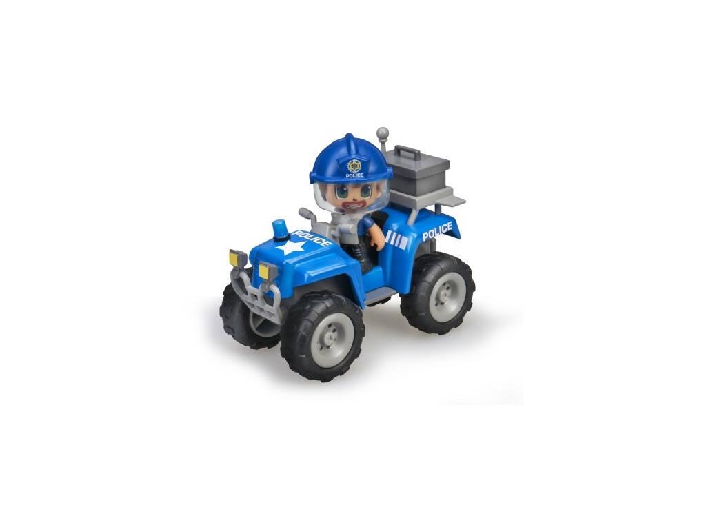 PinyPon Action Policier avec Voiture Quad Famosa 700015582