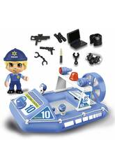 Pinypon Action Lancha Policía con Figura Famosa 700015588