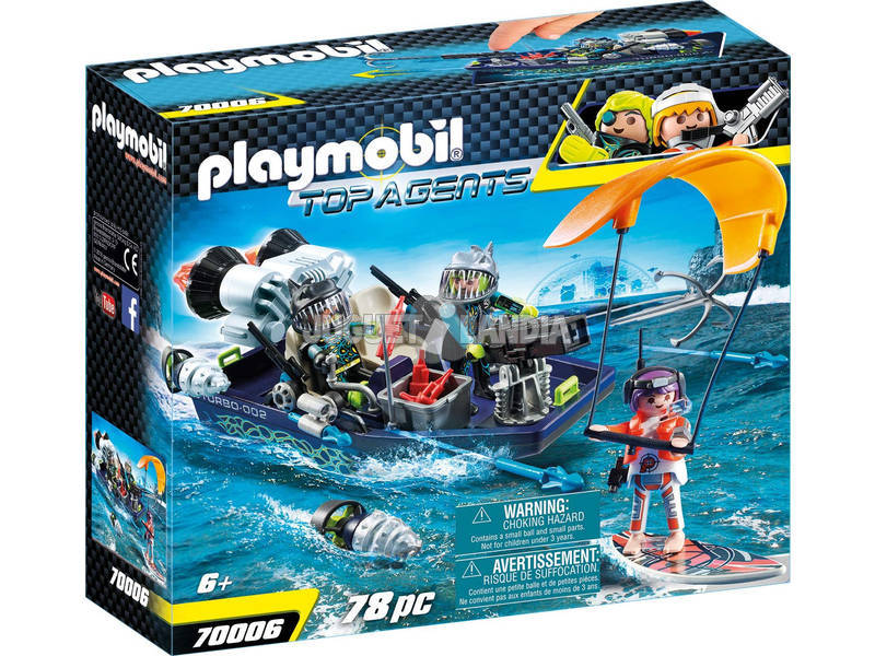 Playmobil Team S.H.A.R.K. Vaisseau avec Harpon 70006