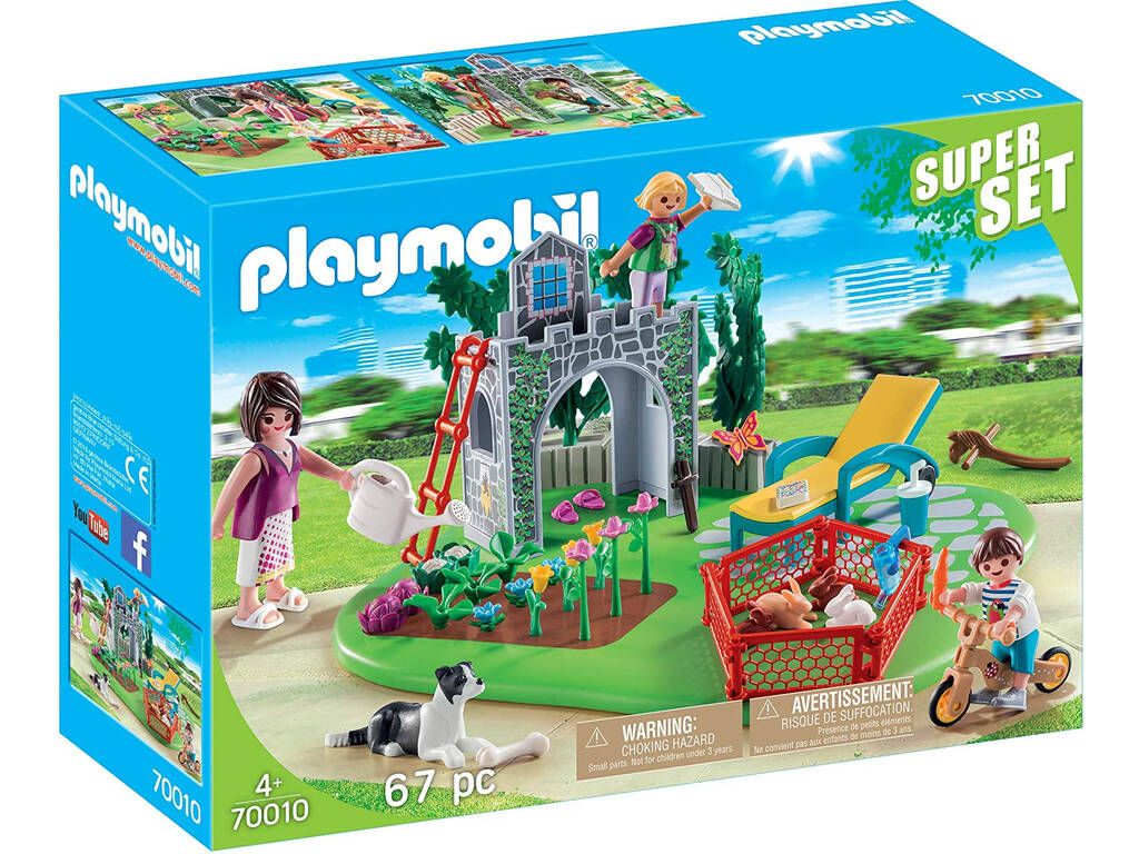 Playmobil Superset Familia en el Jardín 70010