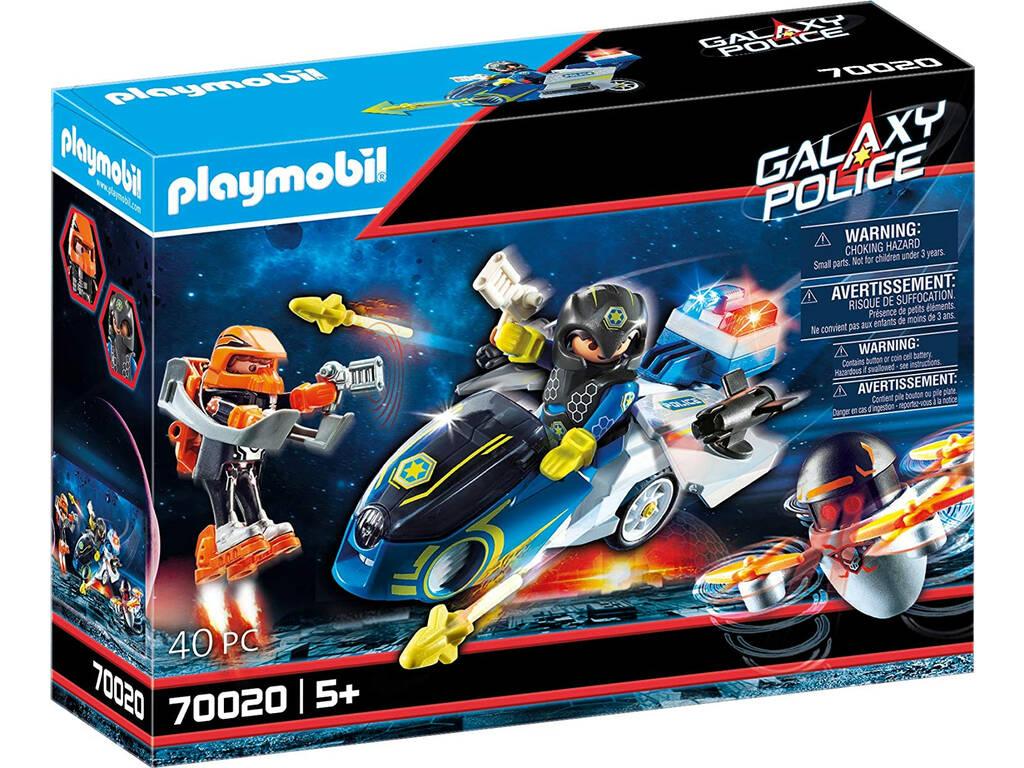 Playmobil Policía Galactica Moto