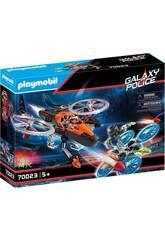 Playmobil Piratas Galacticos Helicóptero