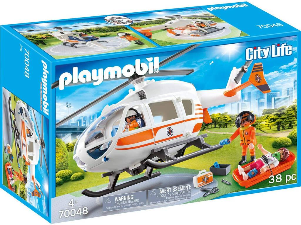 Playmobil Hélicoptère de Sauvetage 70048