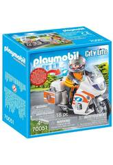Playmobil Moto de Emergencias 70051
