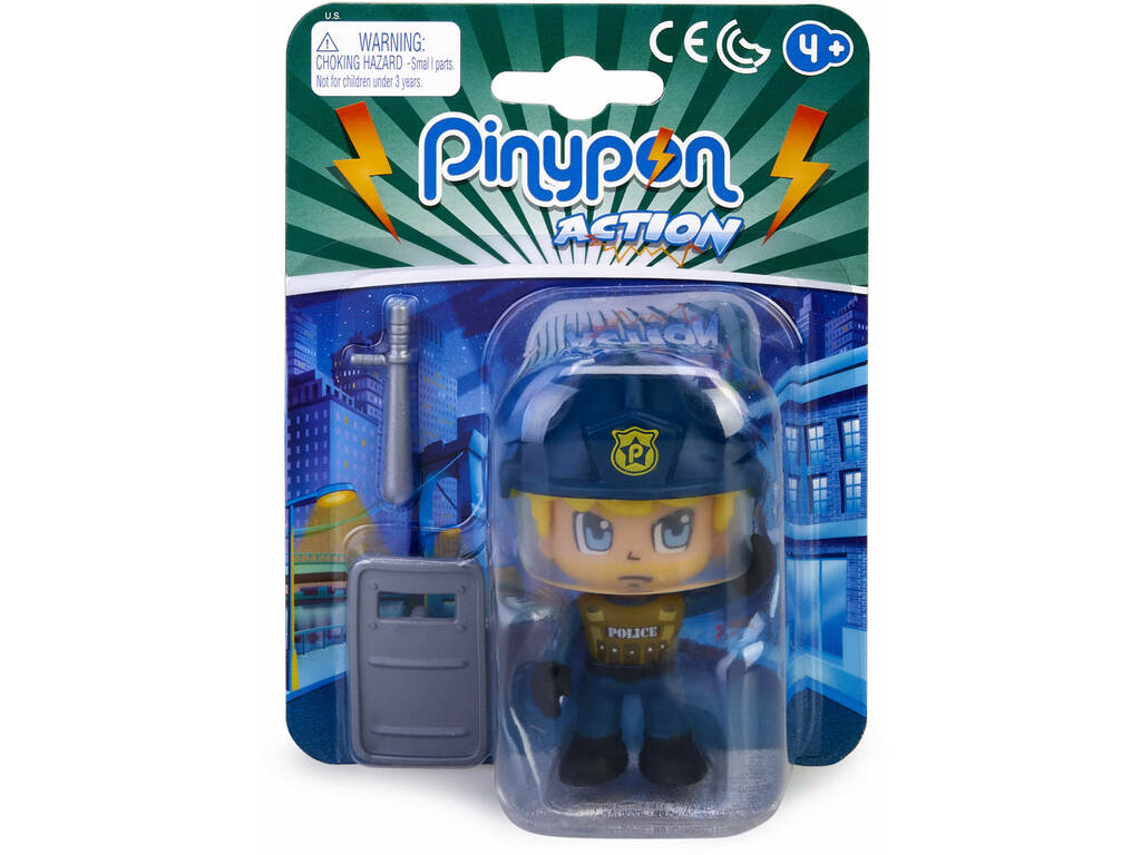 Pinypon Action Policía Figura Squad Swat Famosa 700015589