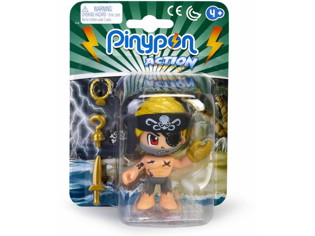 Pinypon Action Pirata Bandana Negra Famosa 700015581