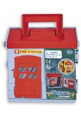 Pinypon Action Mixópolis Caserne des Pompiers avec Figurine de Pompier Famosa 700015585
