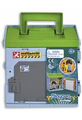 Pinypon Action Mixópolis Officina con Figura Meccanico Famosa 700015585