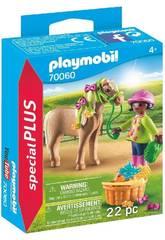 Playmobil Niña con Poni 70060