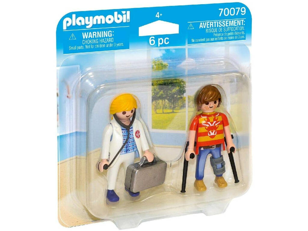Playmobil Duopack Doctora y Paciente 70079