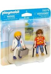 Playmobil Duopack Doctorin und Patient 70079