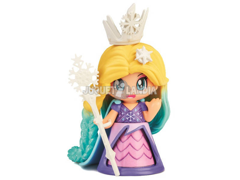 Pin et Pon Queen Figurine de Glace Robe Lilas Famosa 700015577