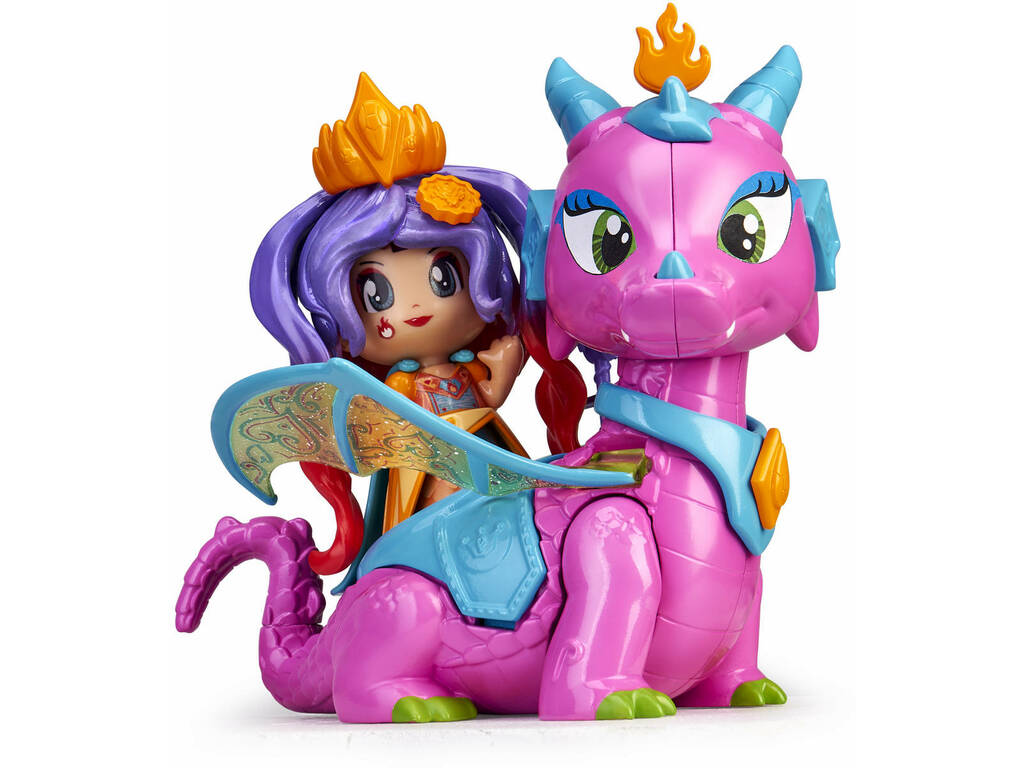 Pinypon Figurine Queen et Dragon Famosa 700015547