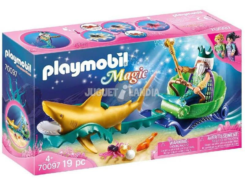 Playmobil Roi de la Mer avec Carrosse Requin Playmobil 70097