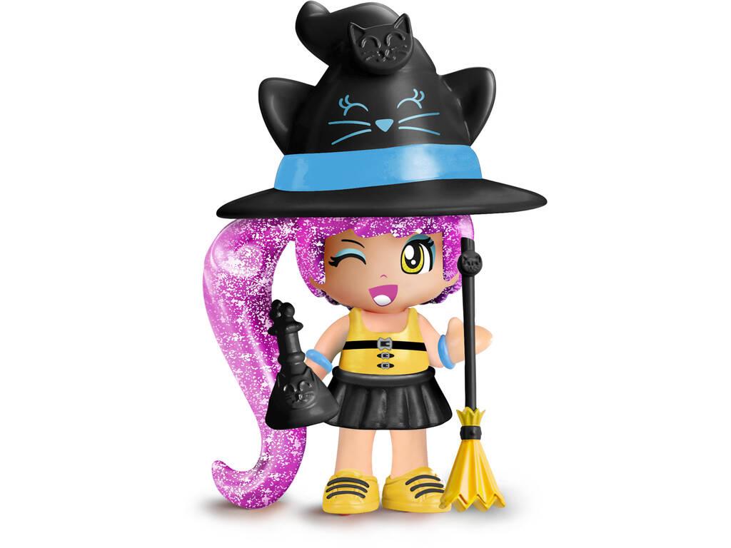 Pin et Pon Figurine Petite Sorcière Chats Famosa 700015651