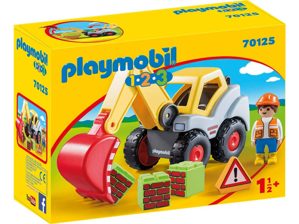 Playmobil 1,2,3 Pala Excavadora Playmobil 70125