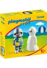 Playmobil 1,2,3 Cavaleiro com Fantasma Playmobil 70128
