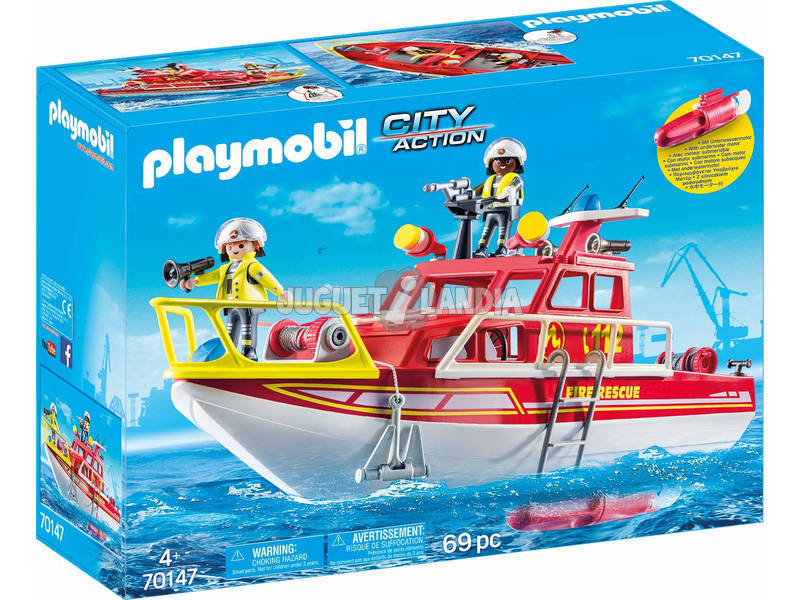 Playmobil Barco de Rescate 70147